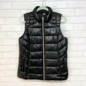 Fila Women's Black Sporta Puffer Vest